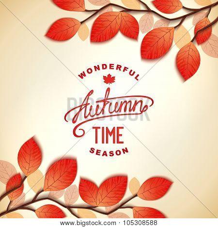 Autumn card design