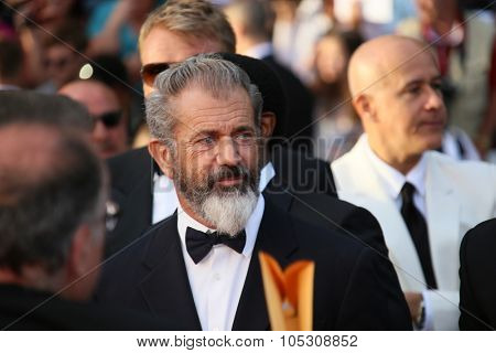 CANNES, FRANCE - MAY 18:  Mel Gibson attends 'The Expendables 3' Premiere at the 67th Annual Cannes Film Festival on May 18, 2014 in Cannes, France.