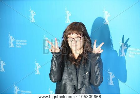 BERLIN, GERMANY - FEBRUARY 5: Isabel Coixet poses during the photocall for the 'Nadie quiere la noche' (Nobody Wants the Night) presented at the 65th Film Festival in Berlin, on February 5, 2015.