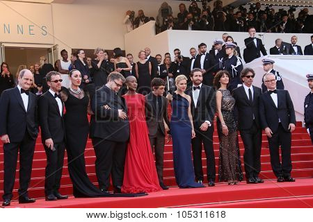 Sophie Marceau, Xavier Dolan, Sienna Miller, Jake Gyllenhaal attend the opening ceremony and 'La Tete Haute' premiere during the 68th annual Cannes Film Festival on May 13, 2015 in Cannes, France.