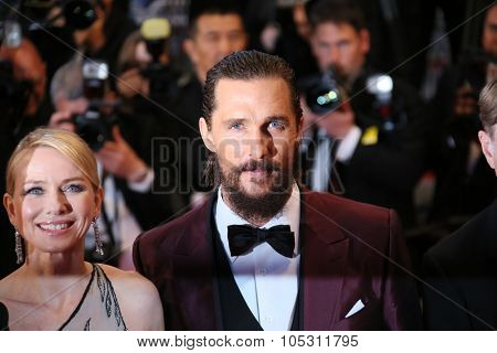 Naomi Watts and Matthew McConaughey attend the premiere of 'The Sea Of Trees' during the 68th annual Cannes Film Festival on May 16, 2015 in Cannes, France.