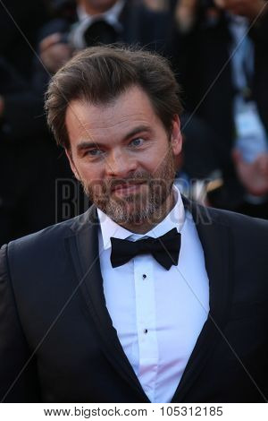 CANNES, FRANCE - MAY 18: Clovis Cornillac attends the Premiere of 'Inside Out' during the 68th annual Cannes Film Festival on May 18, 2015 in Cannes, France.