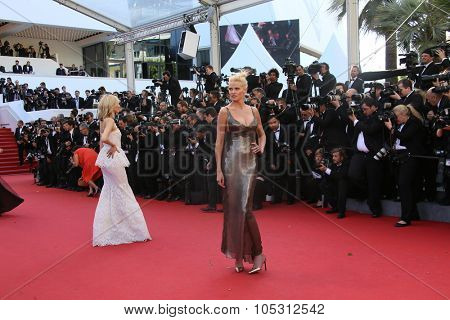 CANNES, FRANCE - MAY 20, 2015: Lara Stone attends the 'Youth' Premiere during the 68th annual Cannes Film Festival on May 20, 2015 in Cannes, France.