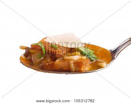 Spoon With Minestrone