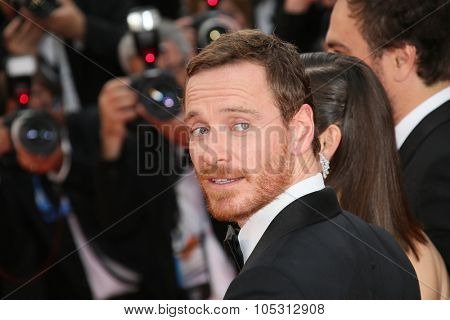 Michael Fassbender attends the 'Macbeth' Premiere during the 68th annual Cannes Film Festival on May 23, 2015 in Cannes, France.