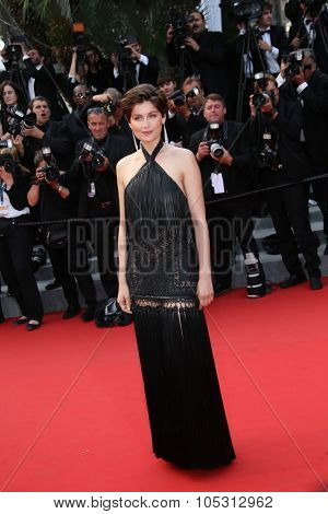 Laetitia Casta attends the closing ceremony and 'Le Glace Et Le Ciel' Premiere during the 68th annual Cannes Film Festival on May 24, 2015 in Cannes, France.