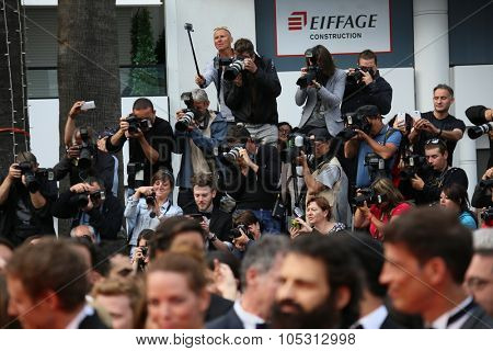 Photographer,    attends the closing ceremony during the 68th annual Cannes Film Festival on May 24, 2015 in Cannes, France.