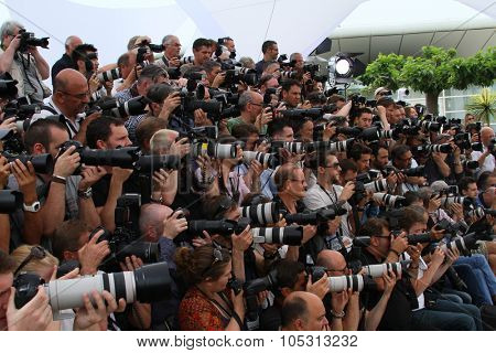 Photographer attend the Jury photocall during the 68th annual Cannes Film Festival on May 13, 2015 in Cannes, France.