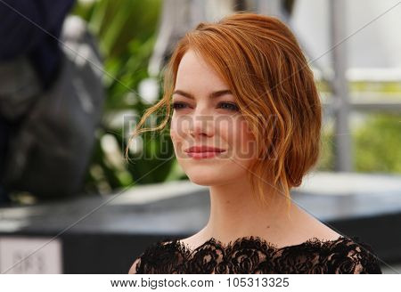 Emma Stone attends the 'Irrational Man' photocall during the 68th annual Cannes Film Festival on May 15, 2015 in Cannes, France.