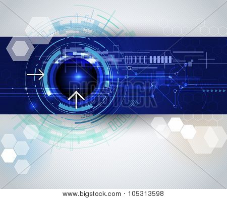 Vector Illustration High Tech Digital Technology Background