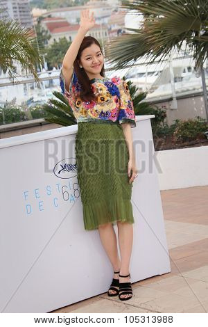 Actress KO Ah-Sung attends the 'O Piseu' Photocall during the 68th annual Cannes Film Festival on May 19, 2015 in Cannes, France.