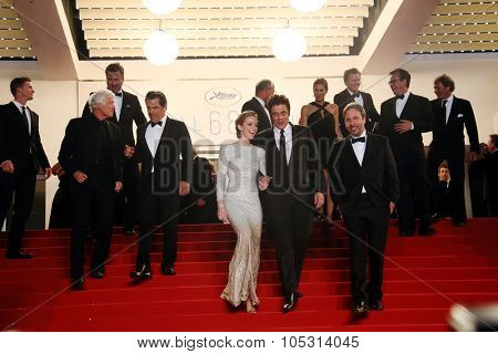 Actors Josh Brolin and Emily Blunt, director Denis Villeneuve and actor Benicio Del Toro attend the 'Sicario' premiere during the 68th annual Cannes Film Festival on May 19, 2015 in Cannes, France.
