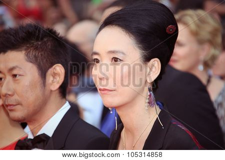 Naomi Kawase attends the 'Mad Max : Fury Road' Premiere during the 68th annual Cannes Film Festival on May 14, 2015 in Cannes, France.