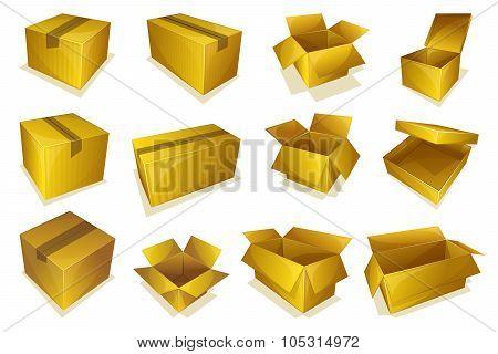Cardboard parcel icon
