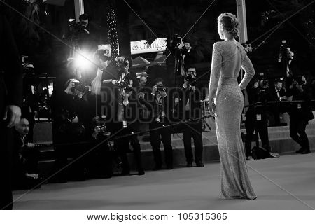 Emily Blunt  attends the 'Sicario' premiere during the 68th annual Cannes Film Festival on May 19, 2015 in Cannes, France.