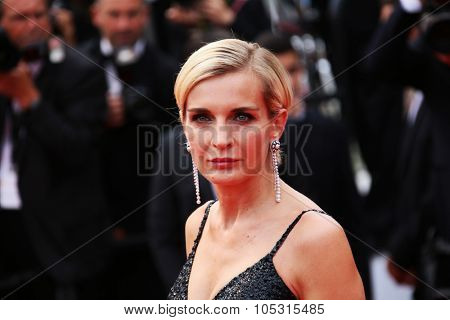 Melita Toscan du Plantier attends the closing ceremony during the 68th annual Cannes Film Festival on May 24, 2015 in Cannes, France.