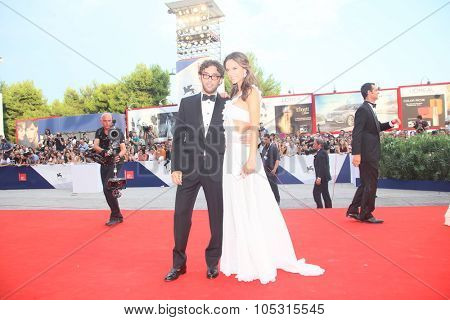 Lorenzo Serafini and Alessandra Ambrosio  attends the opening ceremony and premiere of 'Everest' during the 72nd Venice Film Festival on September 2, 2015 in Venice, Italy.
