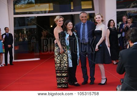 Odessa Young; Sue Brooks and Radha Mitchell attend the premiere of 'Looking For Grace' during the 72nd Venice Film Festival at Sala Grande on September 3, 2015 in Venice, Italy.