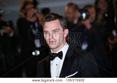 Nicholas Hoult attends the premiere of 'Equals' during the 72nd Venice Film Festival at Sala Grande on September 5, 2015 in Venice, Italy.