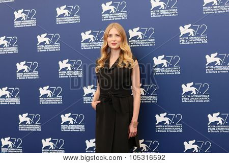 Actress Paulina Chapkov attends a photocall for '11 Minutes' during the 72nd Venice Film Festival at Palazzo del Casino on September 9, 2015 in Venice, Italy.