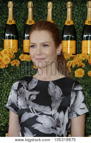 LOS ANGELES - OCT 17:  Darby Stanchfield at the Sixth-Annual Veuve Clicquot Polo Classic at the Will Rogers State Historic Park on October 17, 2015 in acific Palisades, CA