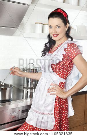 Cooking Young Woman