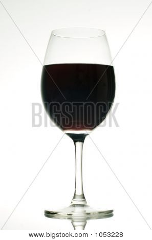 Red Wine With White Background