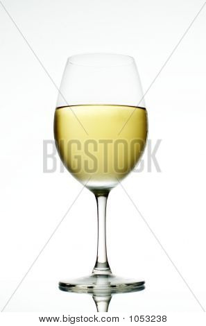 White Wine With Reflection