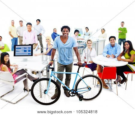 Office Group Business Teamwork Network Planning Concept