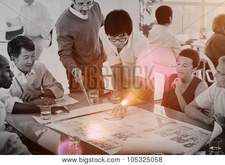 Group of Business People in the Office Brainstorming Concept