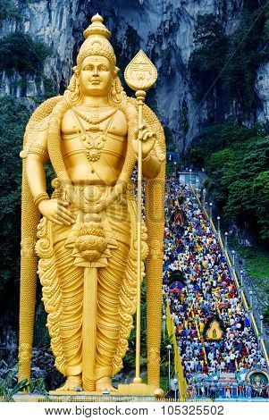 Shrine at Batu Cave Thaipusam Festival Spirituality Concept