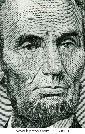 Close-Up Of A Five Dollar Bill