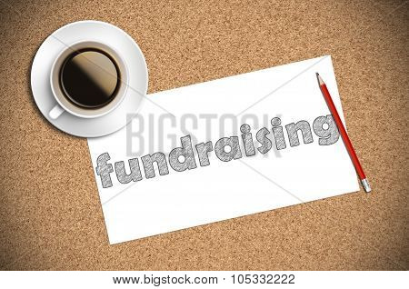 Coffee And Pencil Sketch Fundraising On Paper