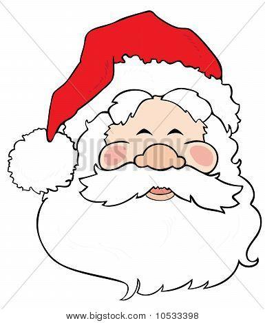Santa Claus smiling.