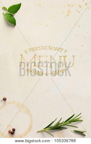 Art Traditional Italian Home Restaurant Menu Background