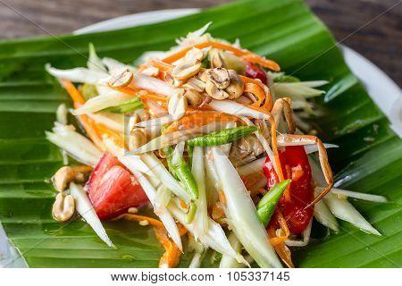 Papaya Salad And Thai Food