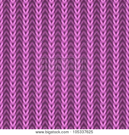 Seamless pink knitting fabric pattern.