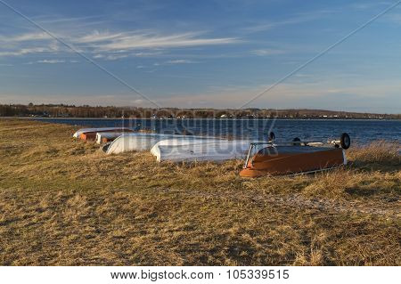 Dinghies At The Beach
