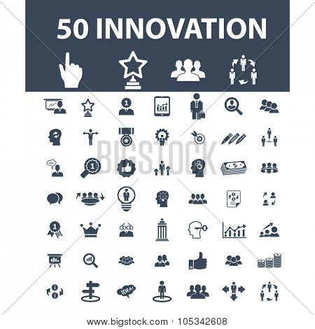 innovation marketing, technology icons icons