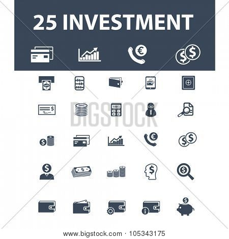 investment, credit, debit icons