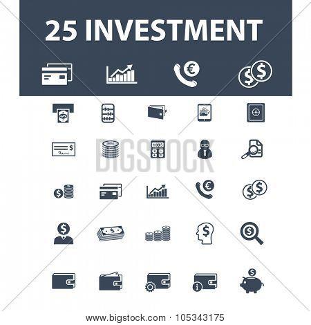 investment, credit, debit icons