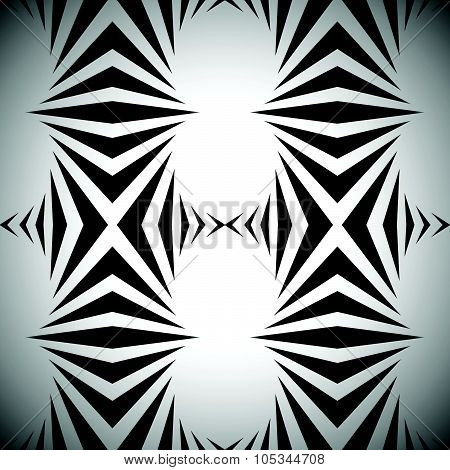 Abstract Vector Pattern, Background In Black And White.