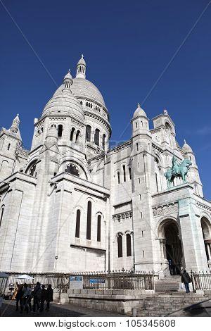 The Basilica of Sacre-Coeur Montmartre. Paris