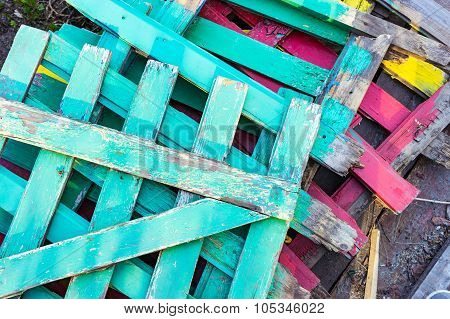 Several Colored Fences