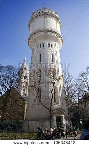 Montmartre water tower Paris France