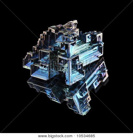 Synthesized crystals of bismuth