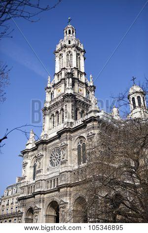 Sainte Trinite church in Paris . France
