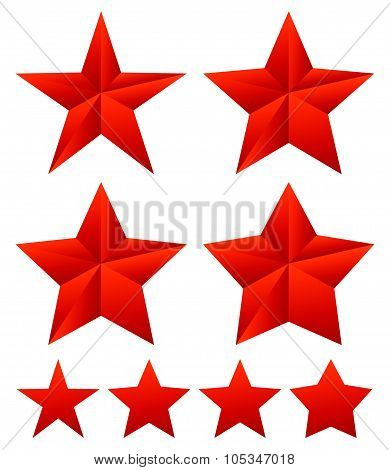 Set Of Star Shapes With Different Thickness.