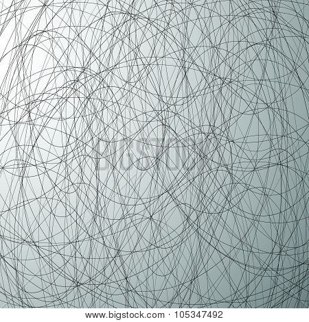 Grayscale Abstract Vector Texture With Intersecting Lines.