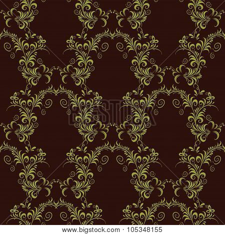 Seamless pattern ornament on black background